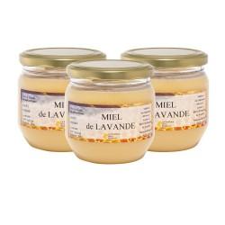 Miel de Lavande, les 3 pots de 500g