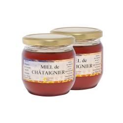 Miel de Châtaignier, les 2 pots de 500g