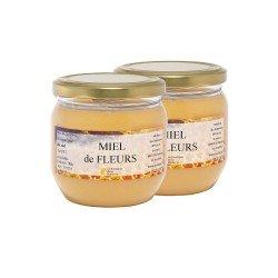 Miel de Fleurs du Sud, les 2 pots de 500g