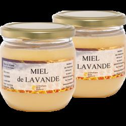 Miel de Lavande, les 2 pots de 500g