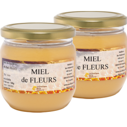 Miel de Fleurs, les 2 pots de 500g