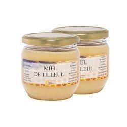 Miel de Tilleul, les 2 pots de 500g