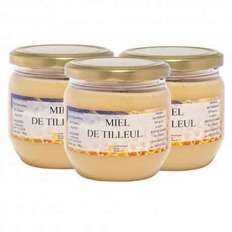 Miel de Tilleul, les 3 pots de 500g