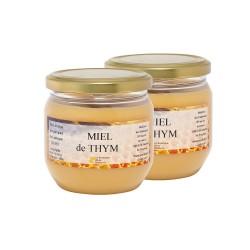 Miel de Thym, les 2 pots de 500g
