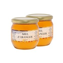 Miel d'Oranger, les 2 pots de 500g