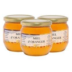 Miel d'Oranger, les 3 pots de 500g